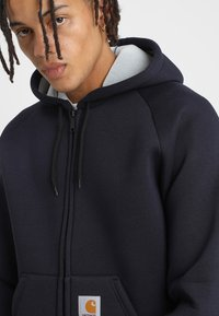 Carhartt WIP - CAR-LUX HOODED - Zip-up hoodie - dark navy/grey - 3