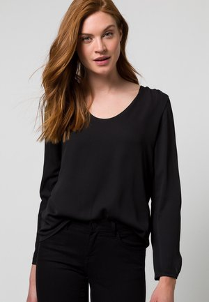 MIT TRANSPARENTEN ÄRMELN - Long sleeved top - black