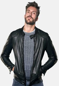 Emilio Adani - Leather jacket - schwarz - 0