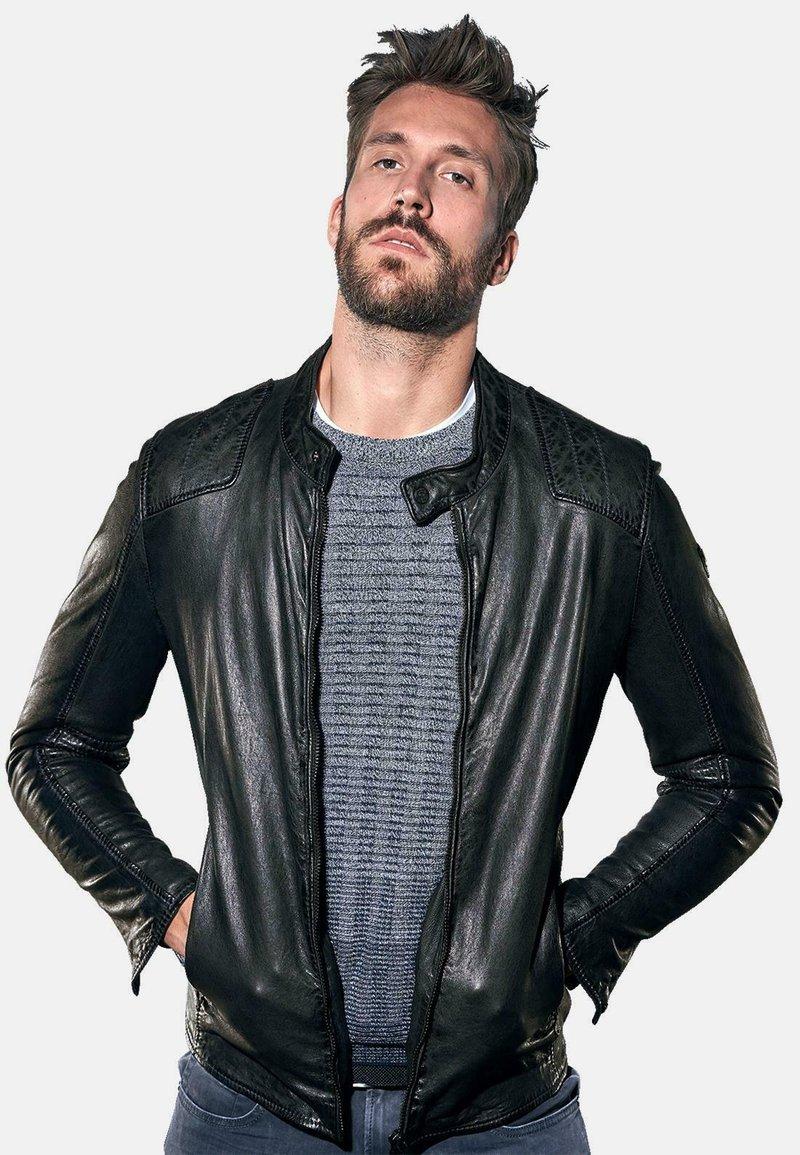 Emilio Adani - Leather jacket - schwarz