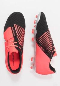 Nike Performance - PHANTOM  ACADEMY FG - Moulded stud football boots - laser crimson/metallic silver/black - 1