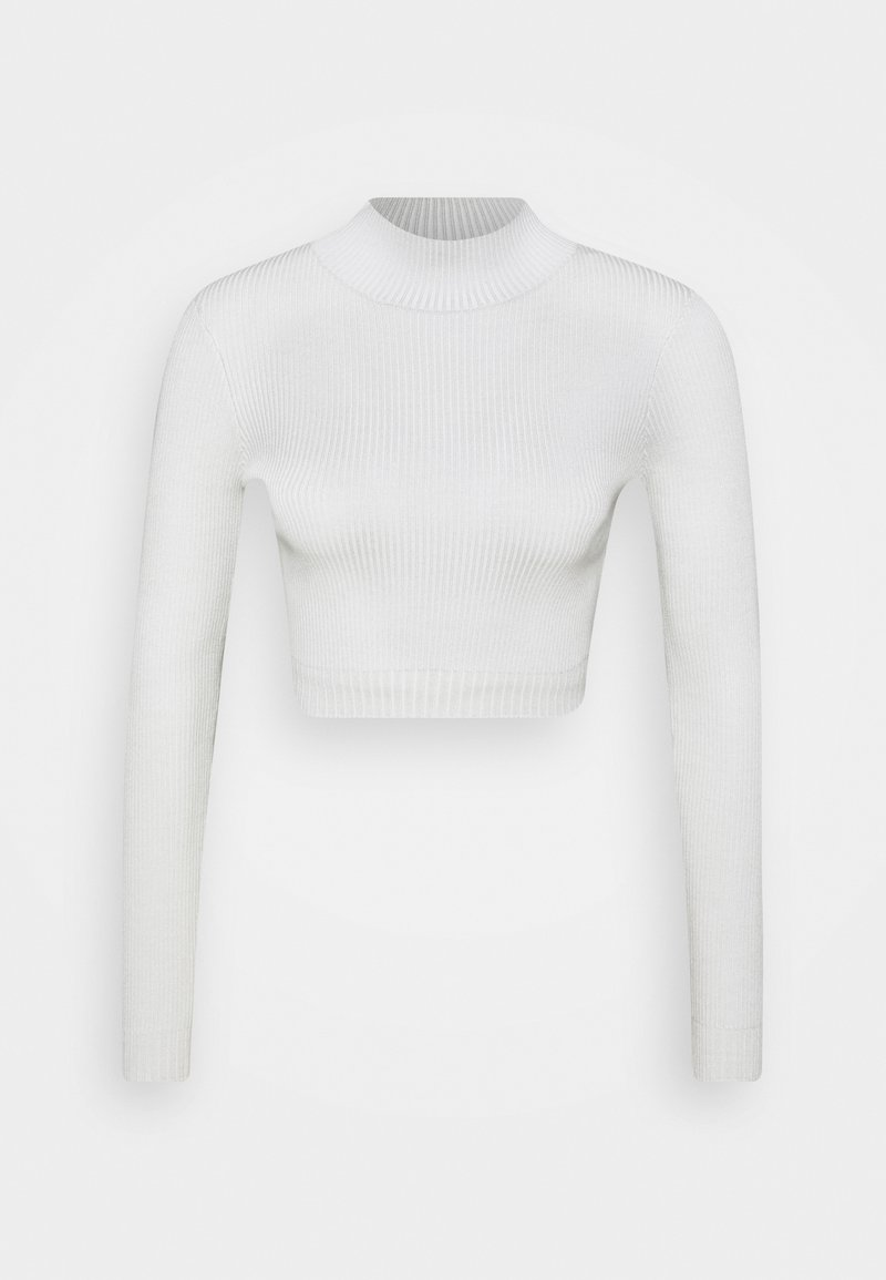 Missguided Strickpullover - white/weiß 4PLG53