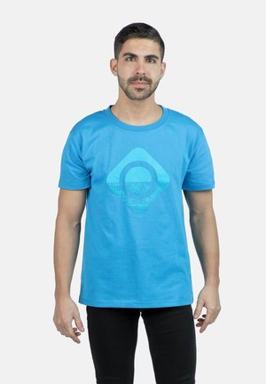 GRANBY - T-shirt imprimé - royal/turquoise