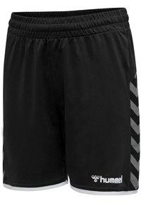 Hummel - AUTHENTIC KIDS POLY SHORTS - Sports shorts - black/white - 1