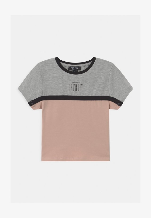 COLOUR BLOCK DETROIT LOGO - T-shirt con stampa - light grey