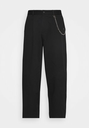 TROUSER WITH CHAIN - Trousers - black