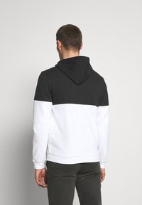 Pier One - Zip-up hoodie - black/white - 2