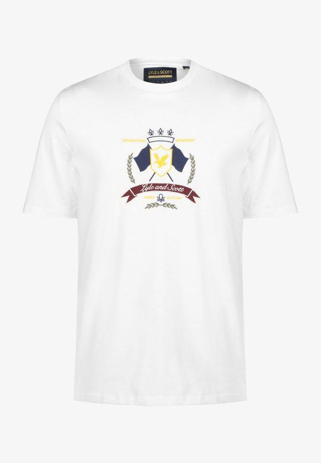 CREST - T-shirt imprimé - white