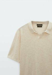 Massimo Dutti - Polo shirt - beige - 2