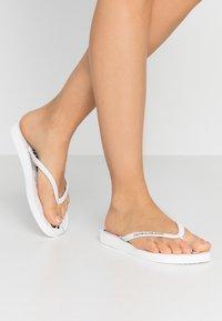 Calvin Klein Jeans - DASHEEN - Badesko - white/black - 0