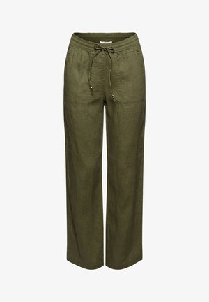 Trousers - khaki green