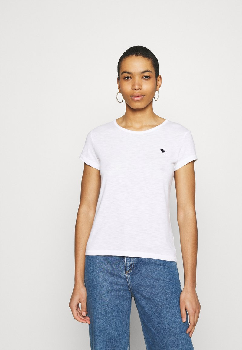 Abercrombie & Fitch - ICON CREW NECK TEE - Basic T-shirt - white