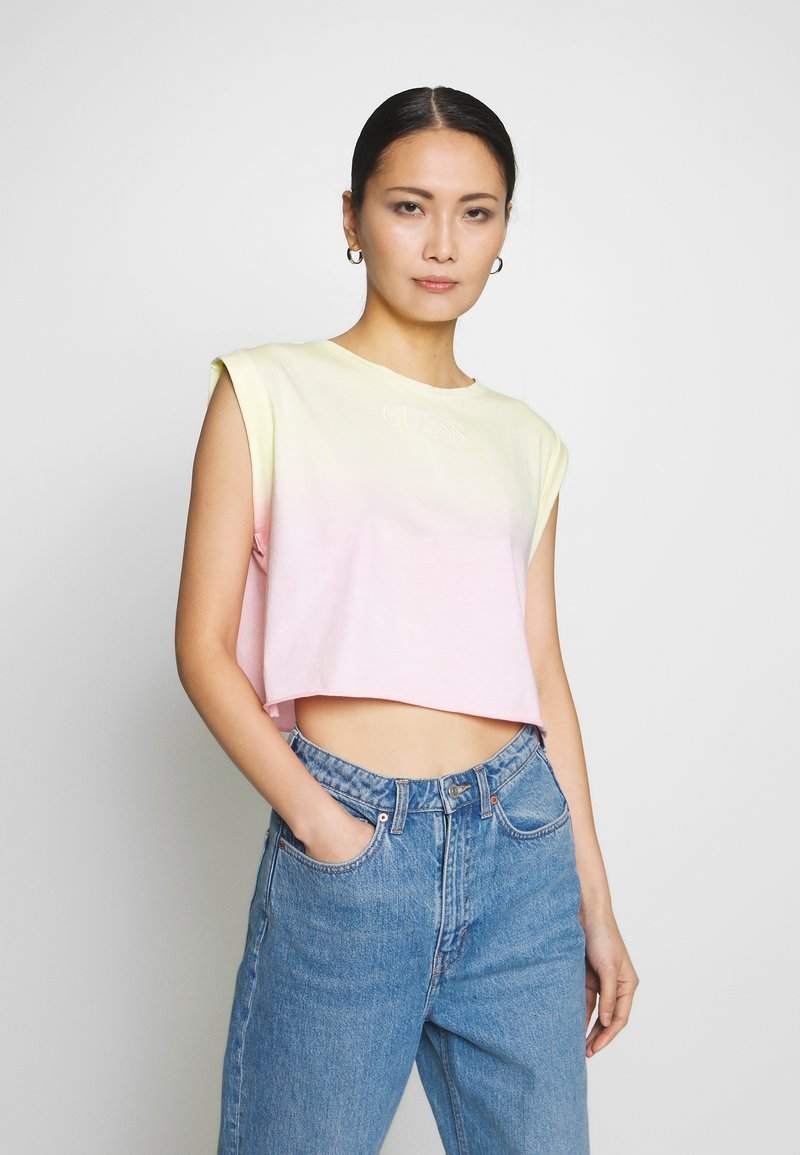 Guess - SUNRISE TEE - Topper - pink