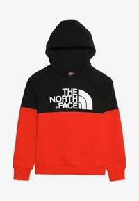 The North Face - DREW PK RGLN PV HD COSMIC BLUE - Jersey con capucha - red/black - 3