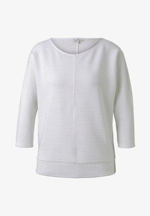 STRICK & SWEATSHIRTS SWEATSHIRT MIT OTTOMAN-STRUKTUR - Bluza - whisper white