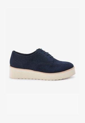 Šněrovací boty - dark blue