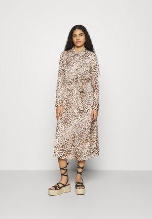 FRONT MIDI SHIRTDRESS PRINT - Shirt dress - neutral
