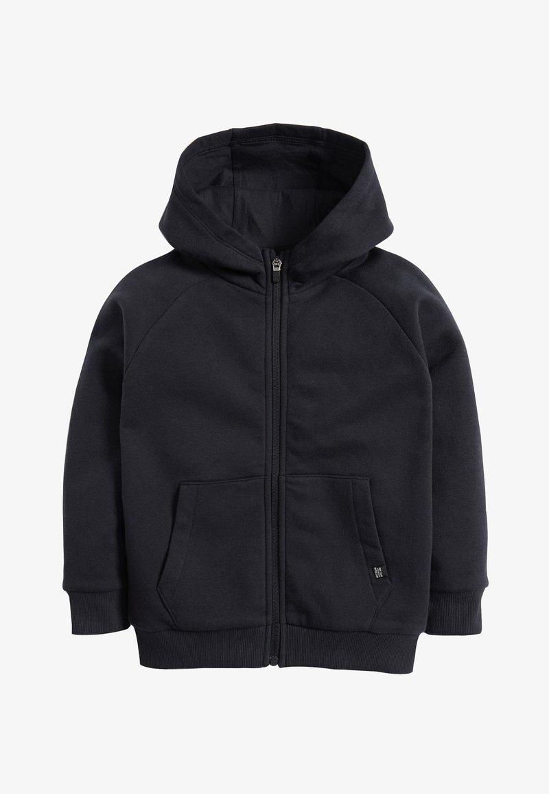 Next - BLACK ZIP THROUGH HOODY (3-16YRS) - Zip-up hoodie - blue
