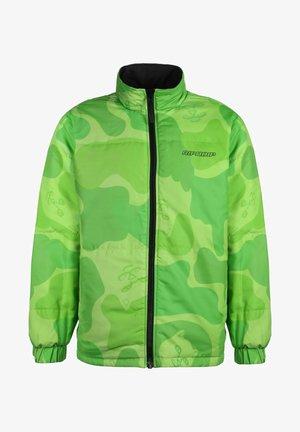 Winterjas - black/tonal green