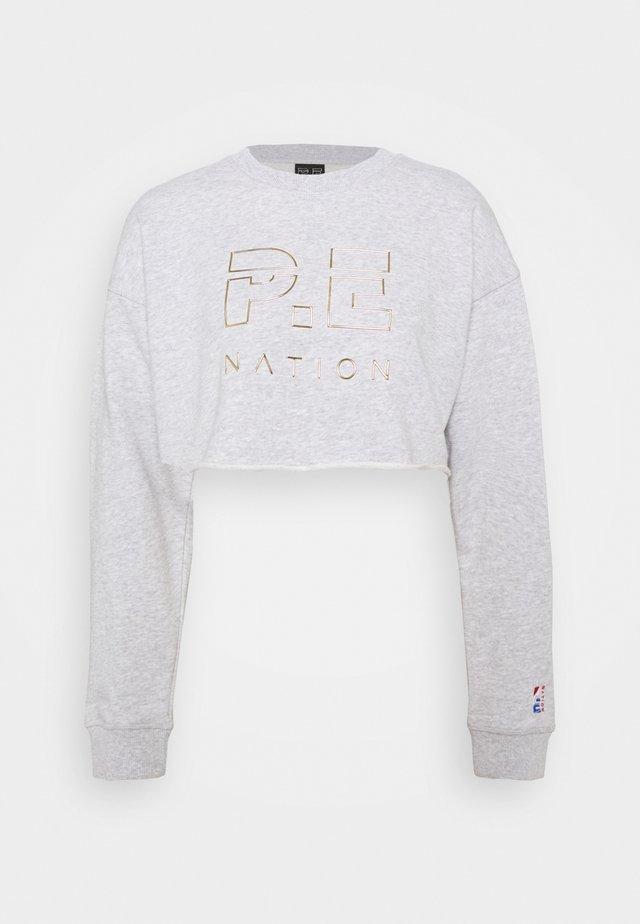 HEADS UP METALLIC CROPPED - Sweatshirts - grey marl