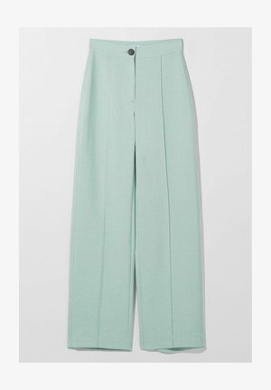 WIDE LEG - Spodnie materiałowe - blue