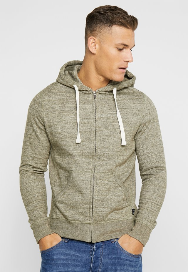 Zip-up hoodie - forest night green