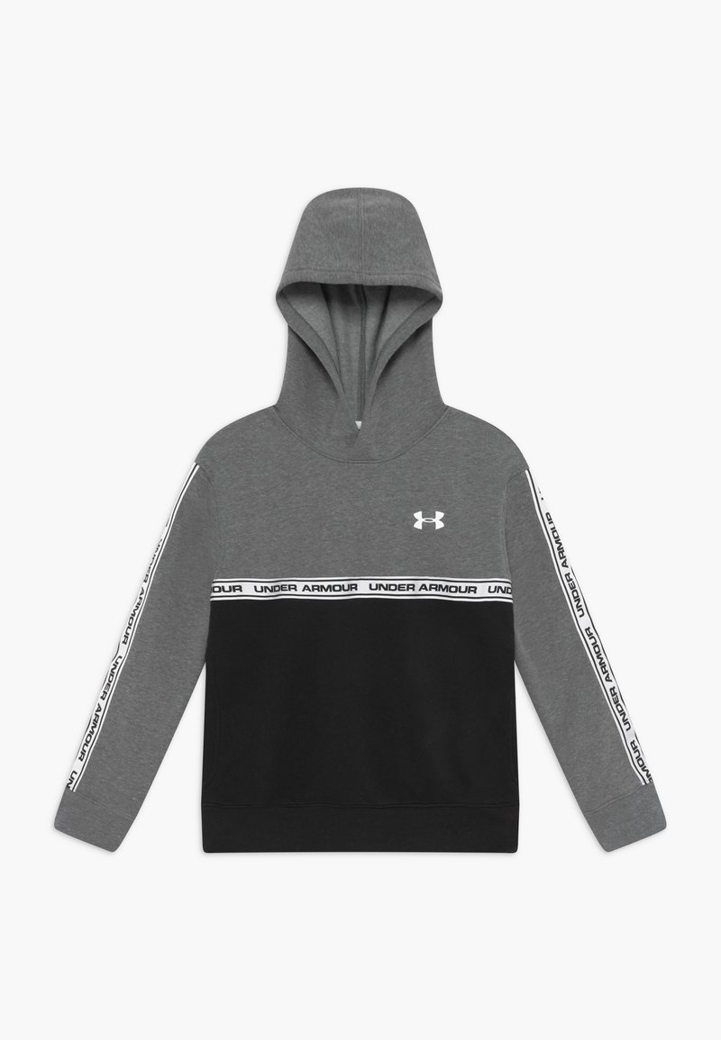 Under Armour - SPORTSTYLE HOODIE - Hoodie - pitch gray/black/white