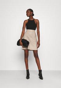 Second Female - FRANCIE MINI SKIRT - Mini skirt - humus - 1