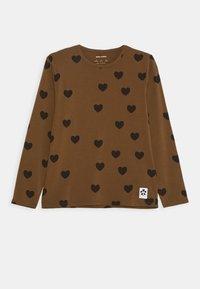 Mini Rodini - HEARTS GRANDPA - Top sdlouhým rukávem - brown - 0