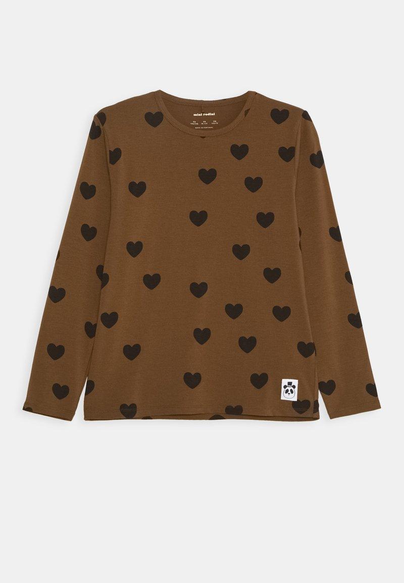 Mini Rodini - HEARTS GRANDPA - Top sdlouhým rukávem - brown
