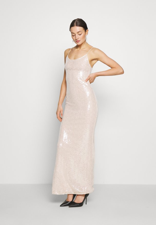 SEQUIN GOWN - Iltapuku - champagne