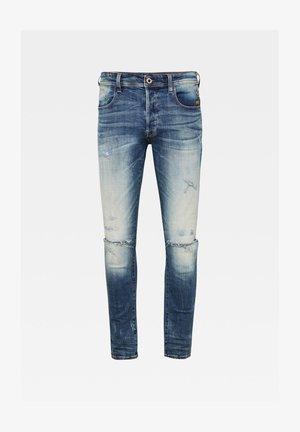 G-BLEID SLIM - Jeans slim fit - antic faded ripped baum blue