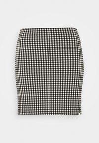 Topshop - CHECKED BENGALINE MINI - Mini skirt - monochrome - 3