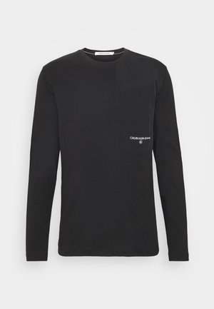 UTILITY POCKET - Long sleeved top - black