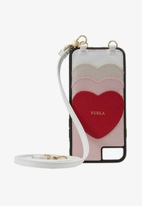 Furla - HIGH TECH HEART - Phone case - camelia/ruby/lino - 1
