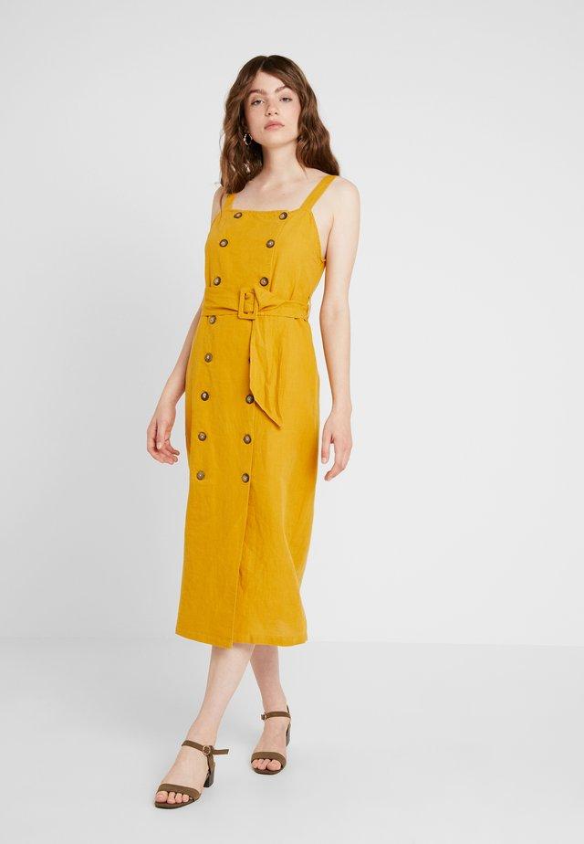 SELF BELT PINI - Shirt dress - mustard
