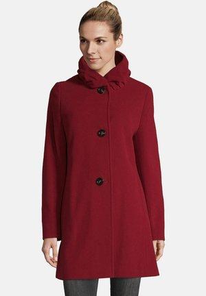 MIT STEHKRAGEN - Short coat - rot