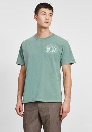 T-shirt imprimé - treillis/blanc