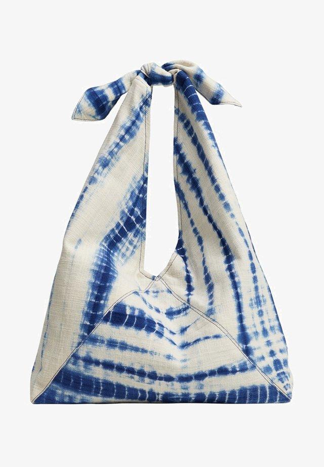 TIEDYE - Taška spříčným popruhem - blau