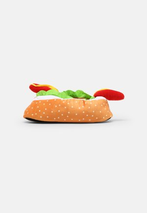 HOT DOG - Slippers - tan/red