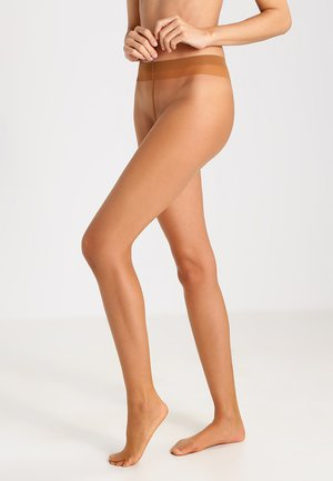 FALKE SHELINA 12 DENIER STRUMPFHOSE ULTRA-TRANSPARENT GLÄNZEND BEIGE - Tights - noisette