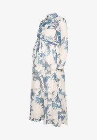 Hope & Ivy Maternity - MIDI TIERED DRESS WITH SLIP - Košilové šaty - cream - 0