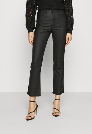 OBJWANDA BELLE COATED KICK - Pantaloni - black