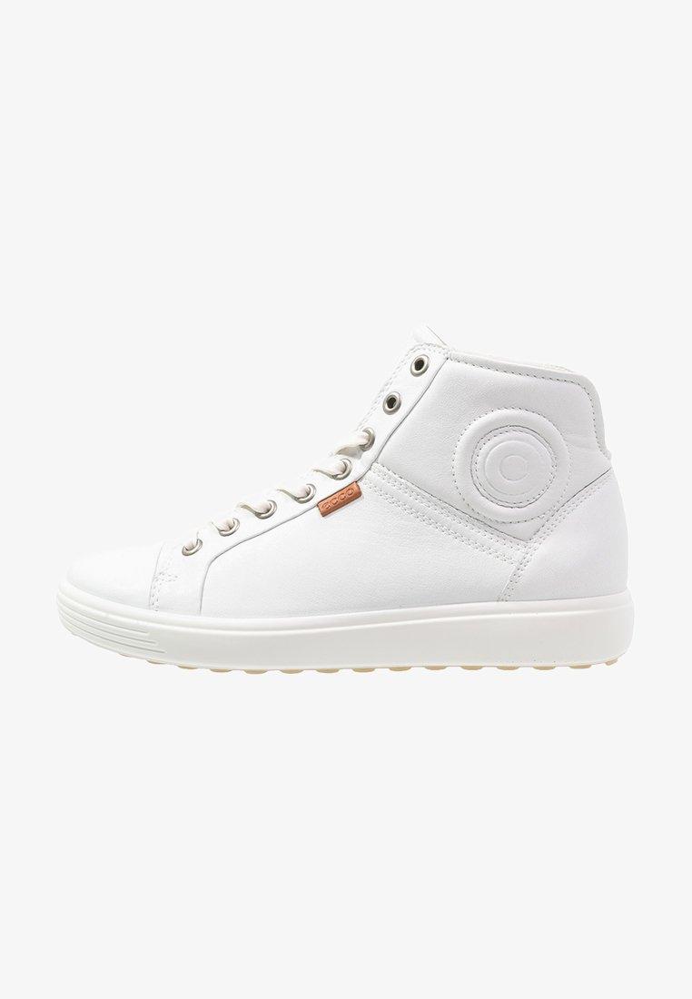 ECCO - SOFT VII - Sneakers hoog - white