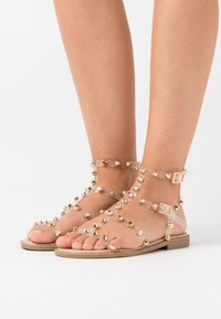 Missguided - DOME STUD GLADIATOR  - Sandals - perspex - 0