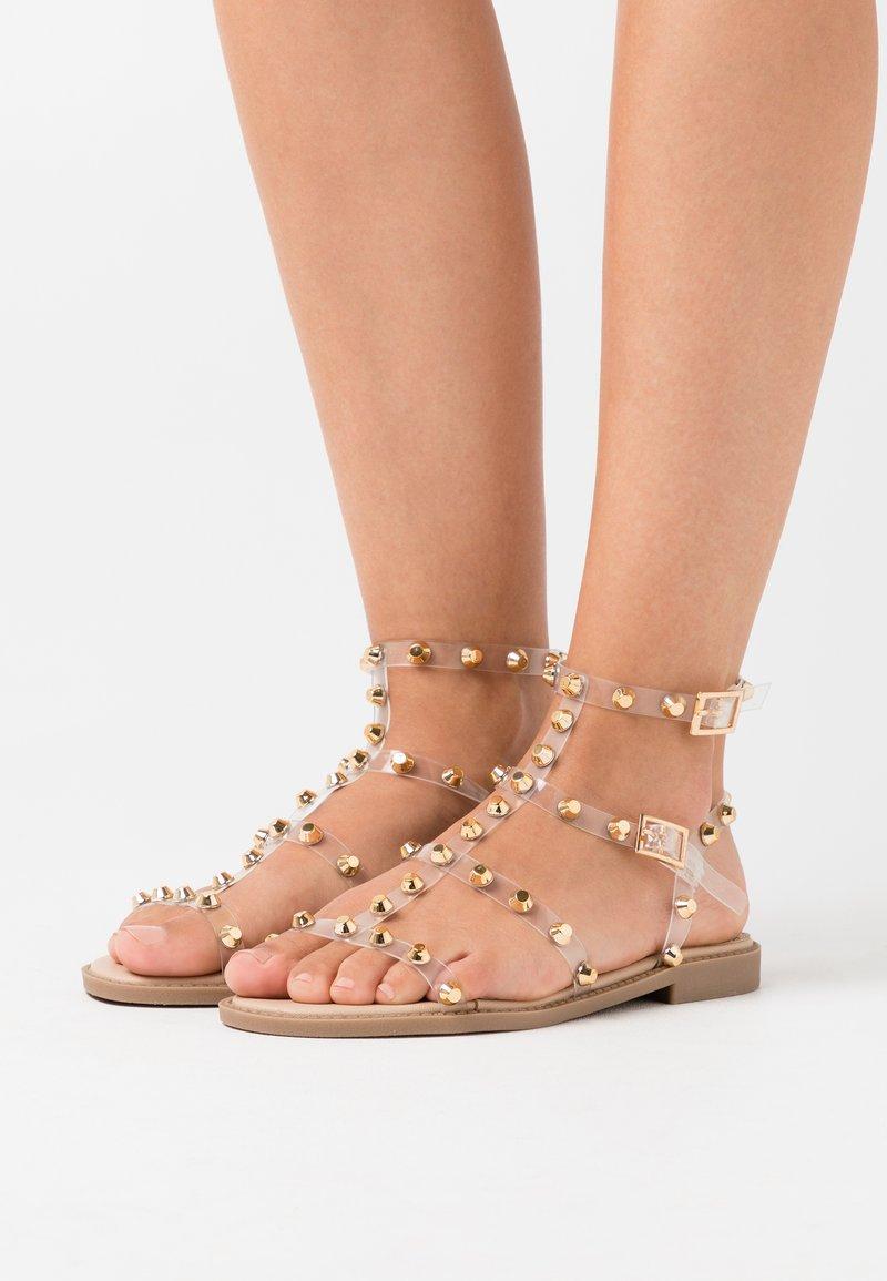 Missguided - DOME STUD GLADIATOR  - Sandals - perspex