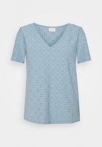 VITRESSY DETAIL V NECK - Print T-shirt - ashley blue