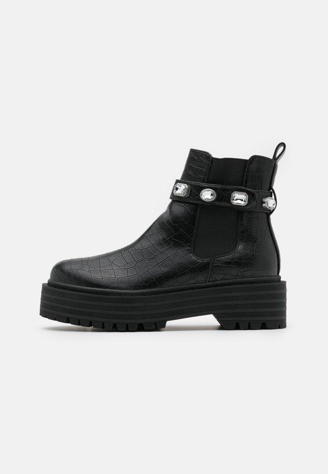 KAREN - Platform ankle boots - black
