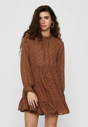 Day dress - tobacco brown