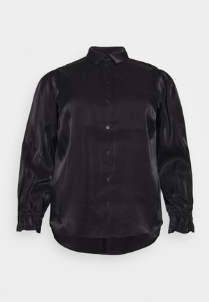 PCRAVENNA - Button-down blouse - black